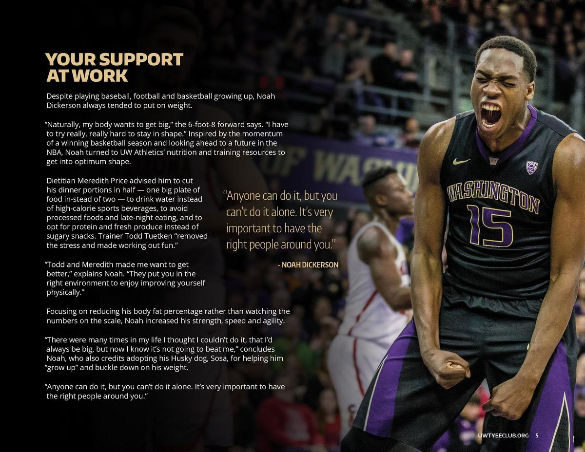 HOW YOU BUILD CHAMPIONS  YOUR SUPPORT AT WORK  Your gifts are an investment in the lives of our student-athletes     provi...